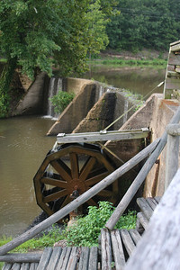 Waterwheel dam at Panther Valley Ranch.