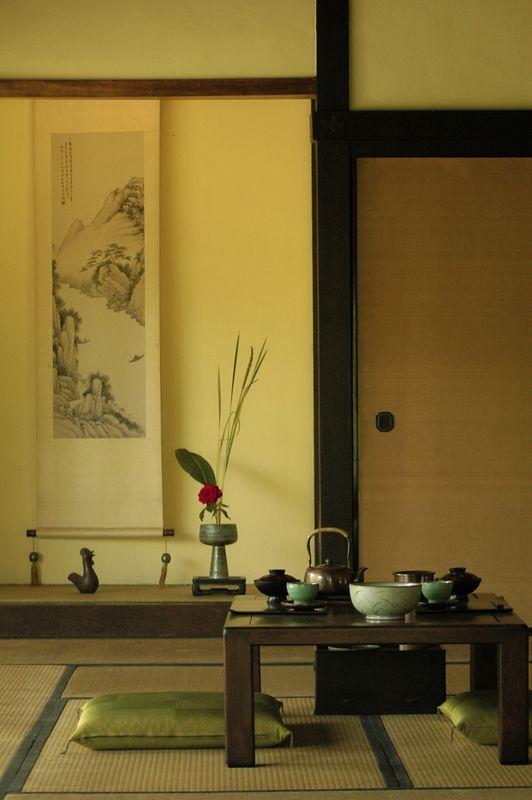 Japanese tea house.