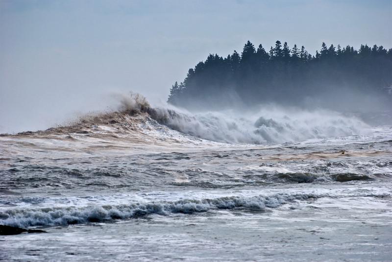 Schoodic Peninsula after Hurricane Bill.