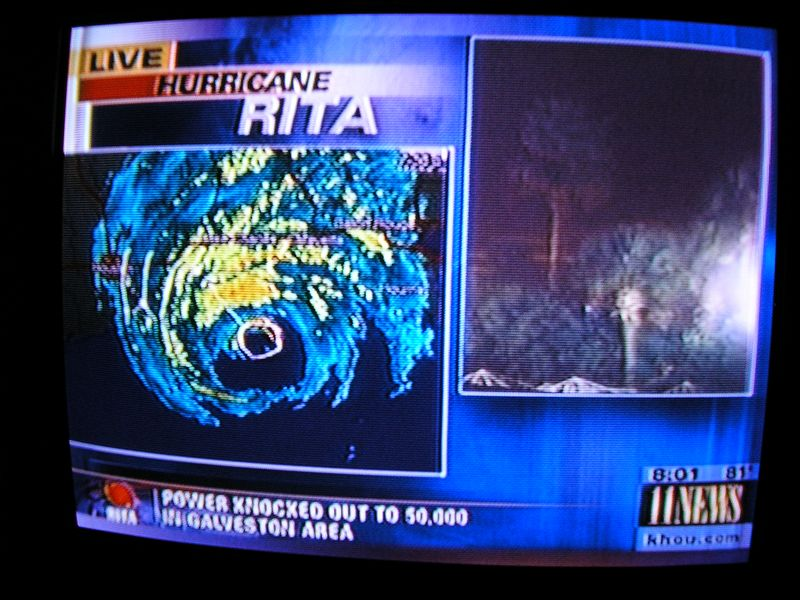 Hurricane Rita was coming but, try to evacuate