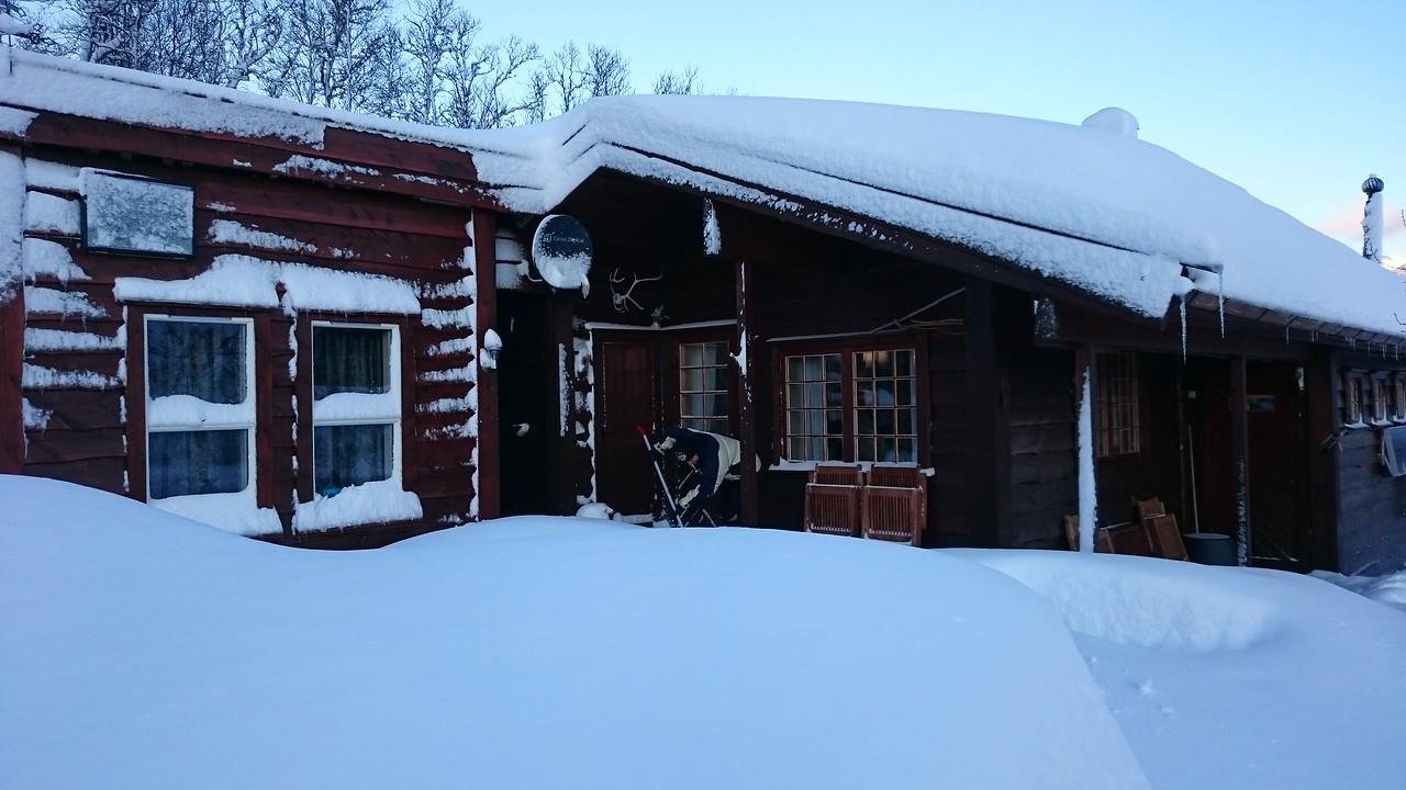 Enorme mengder snø...