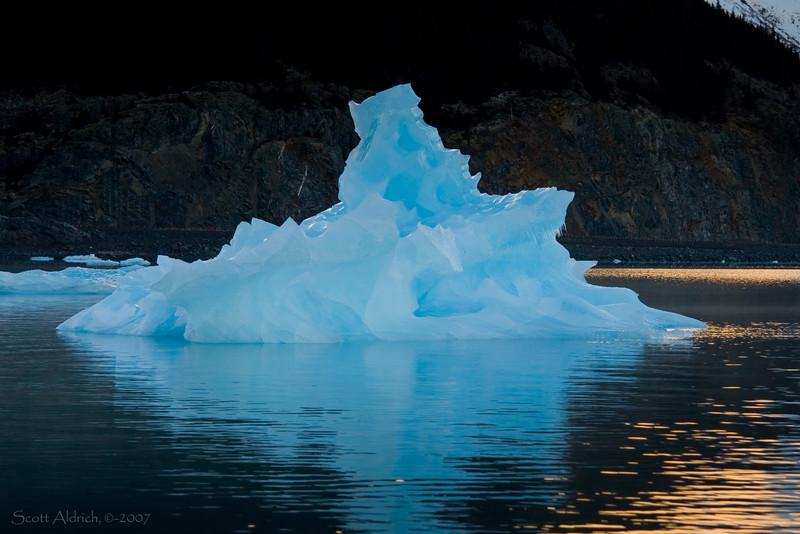 Iceberg in Portage Lake, Alaska.