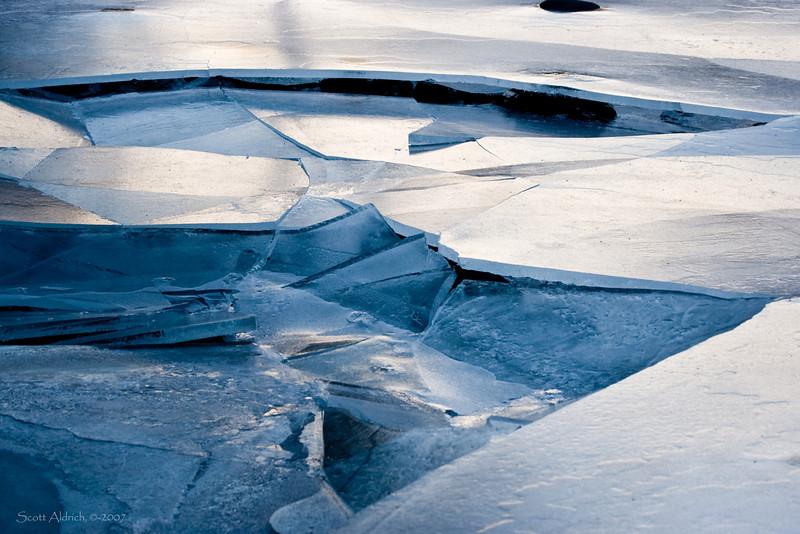 Shore ice, Portage Lake, Alaska.