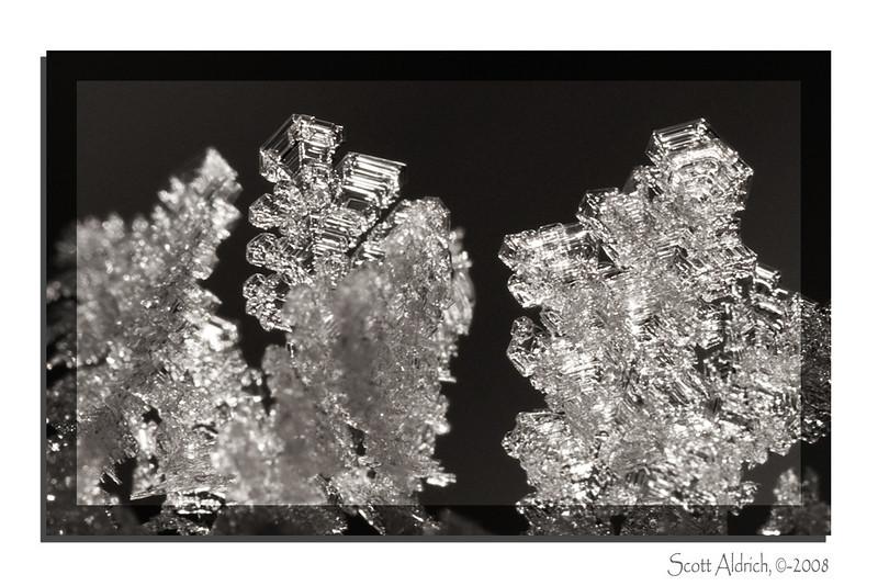 Ice crystals.