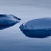 Iceberg remnants in Portage Lake, Alaska.