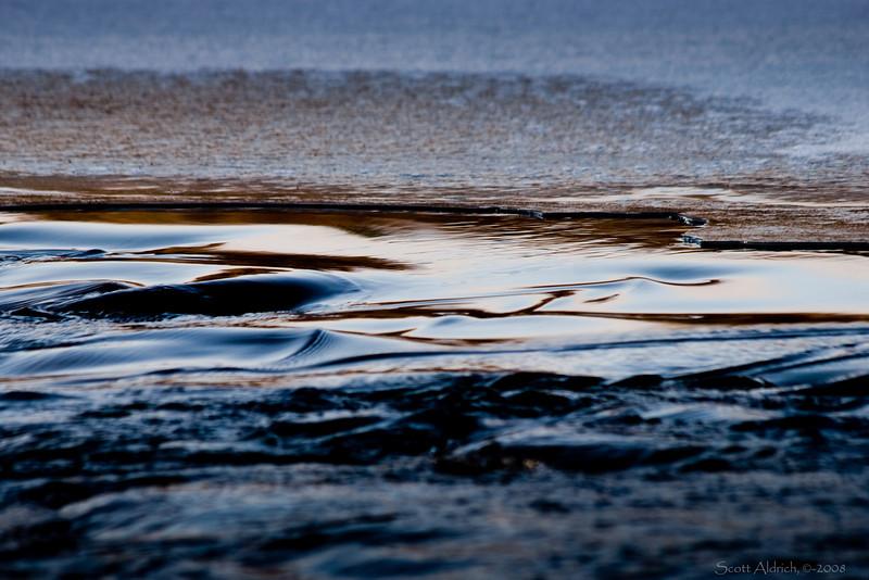 Edge of river ice, Alaska.