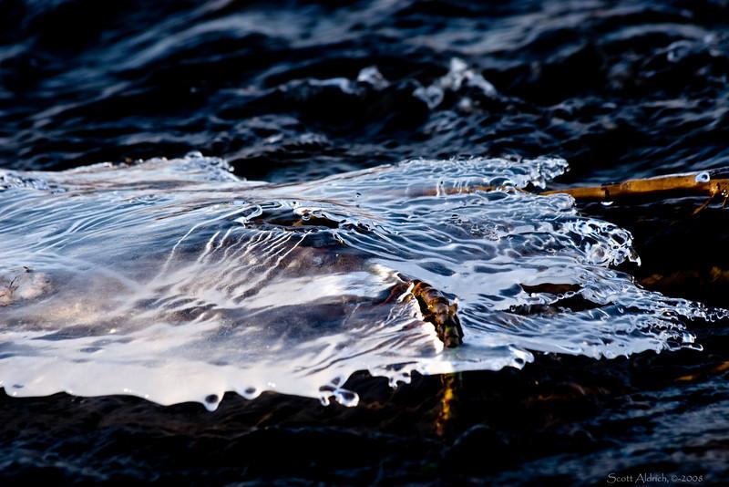 River ice.