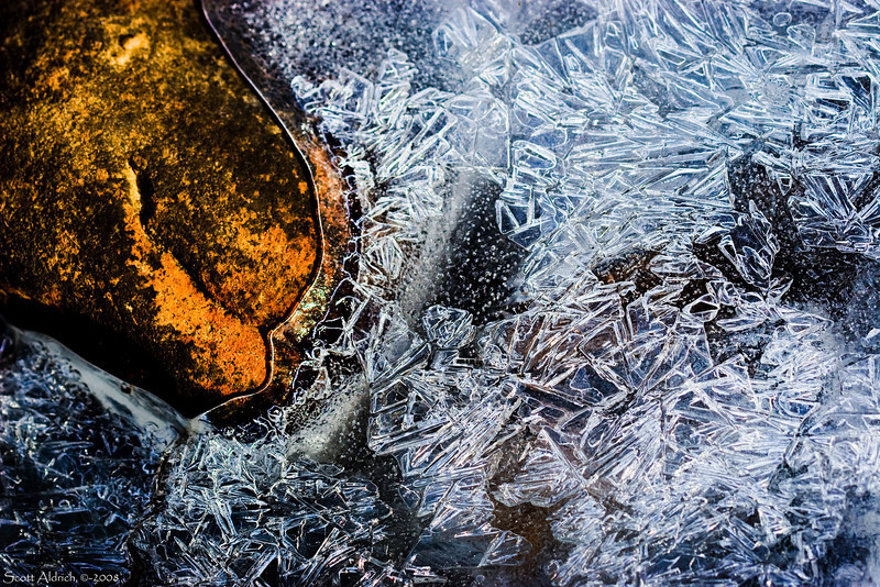 Lake shore ice.