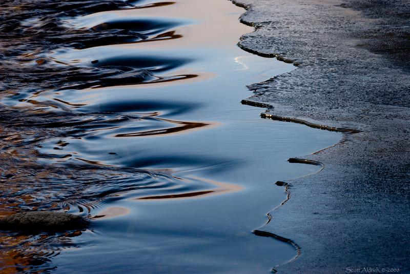 Ice along river - Alaska.