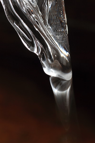 Icicle with blurry water droplet- Paint Mine Creek