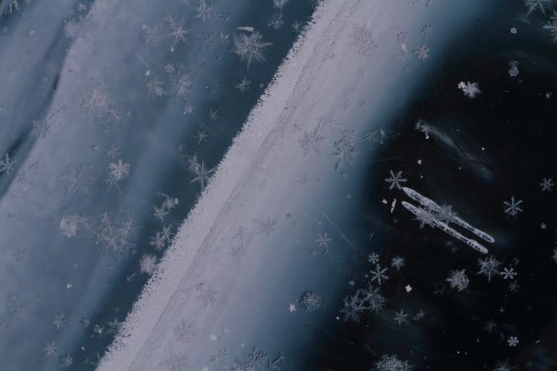 Snowflakes on Ice-Lake Superior