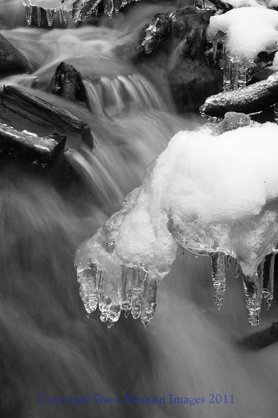 Ice and Water(b&w)- Paint Mine Creek