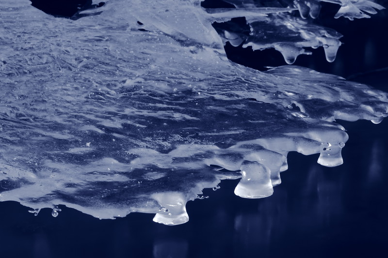 Ice Formation(Blue filter)- Mississippi River