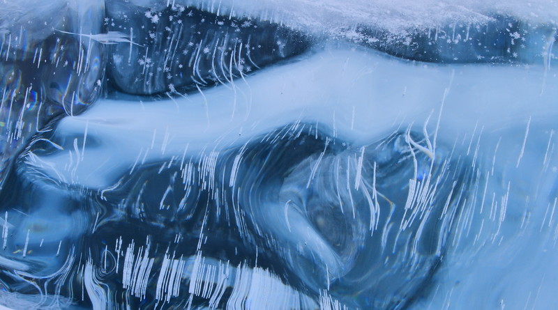 Inside view of Ice Slab- Lake Superior