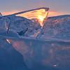 Sunlit Ice Plates- Brighton Beach, Duluth