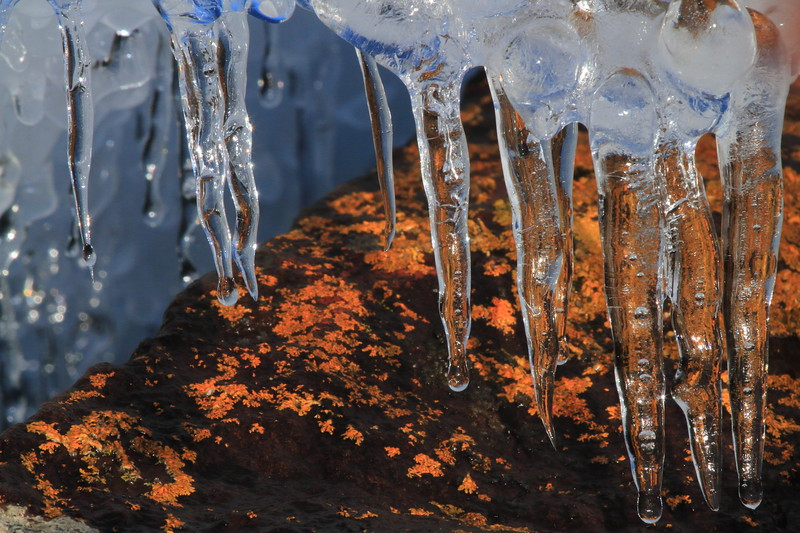Icecicles over Lichen Rock- Artist Point