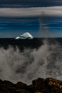 Iceberg and Sea Splash