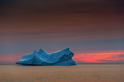 Iceberg  in  Sunset