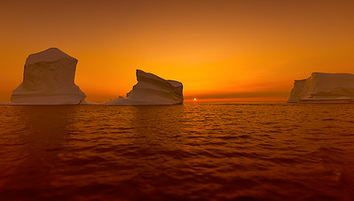 Iceberg off Twillingate during a sunset