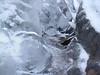 Detail of Sculptural Ice in Nature-- creek scene, Canadensis, Pennsylvania (Spruce Lake Retreat)