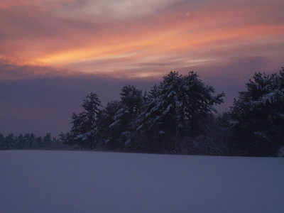 sunset after a snowy day....Lakeville