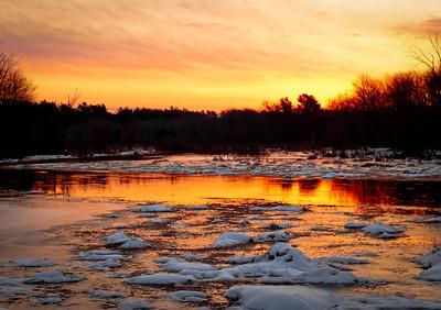 Nemasket River Sunrise Vaughn Street Lakeville, Ma