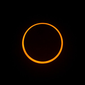 Annular eclipse at maximum. Taken from Redding, California.