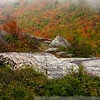 Up on Middle Sugarloaf, I was caught between a rock and a cloud, with autumn fire in the balance.