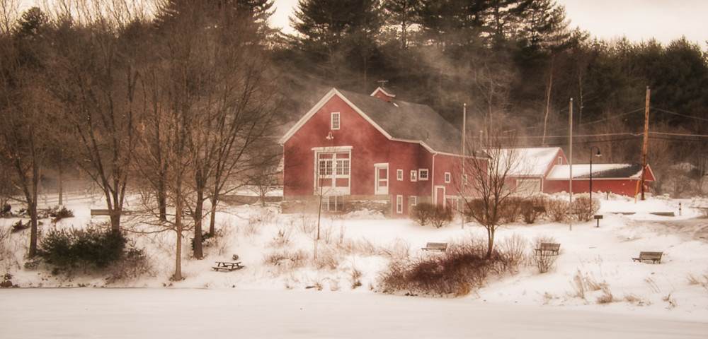 Snow Squall, River Bend Farm, Uxbridge, MA
