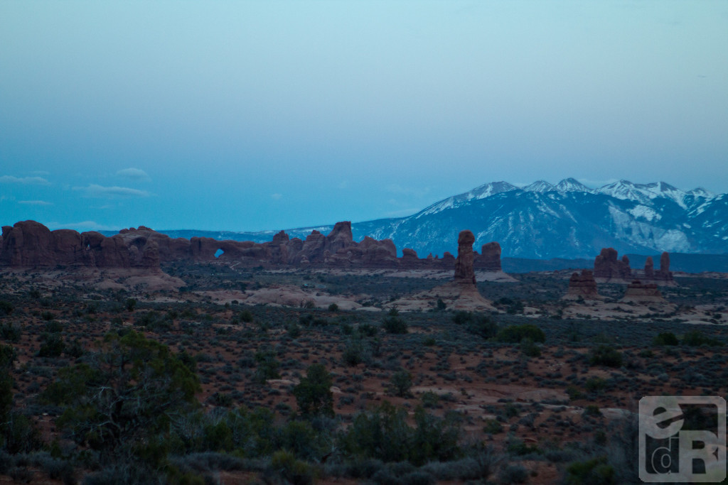 View in Arches National Park, Utah.