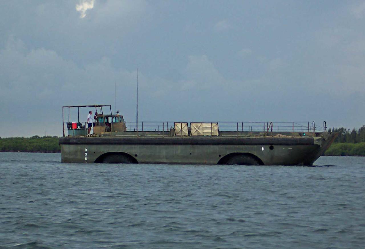 landing barge stuck on oyster bar