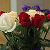 """Red, White & Blue"" Graduation Rose Bouquet"