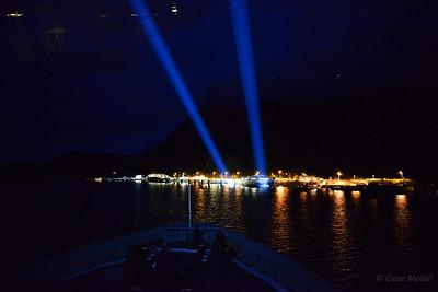 Onboard MV Columbia, docking in Juneau
