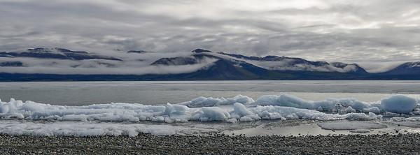 Kluane Lake in thaw.
