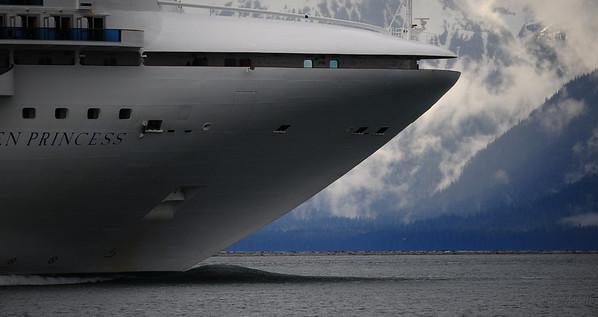 Cruise ship leaving Holkham Bay, Alaska