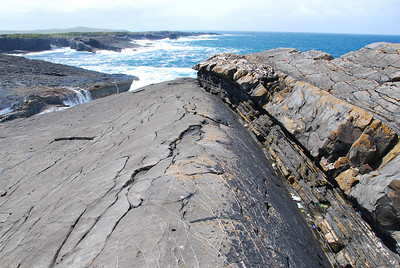 Standing on the axis of an anticline at Fisherman's Point, Loop Head peninsula, western Ireland