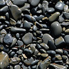 Shiny pebbles on a beach