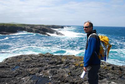 Geologist on the rocks