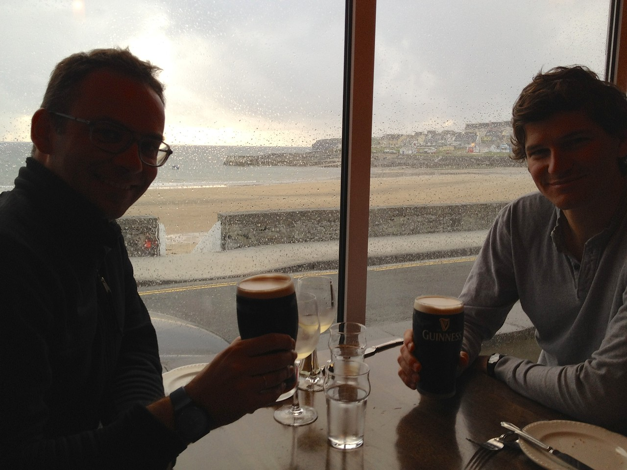 When it's raining, it is a good time to have a Guiness at The Strand