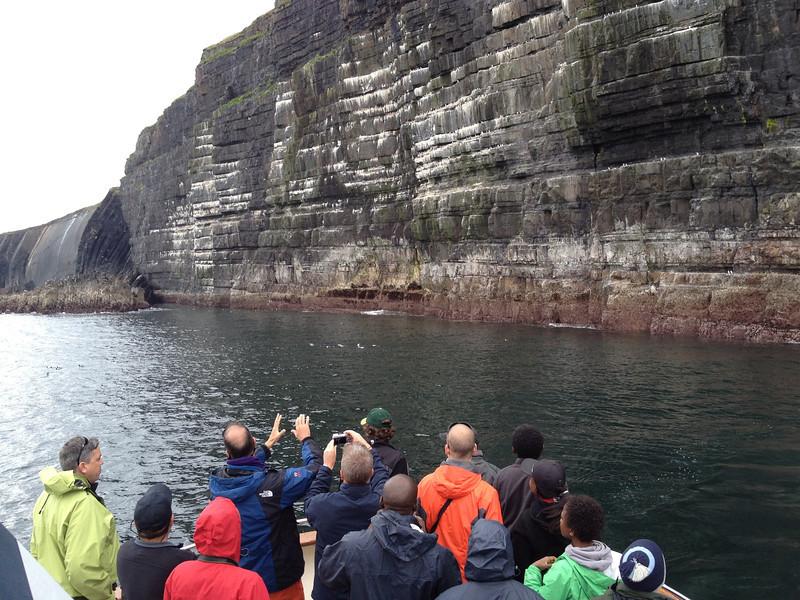 Geology lecture near Loop Head