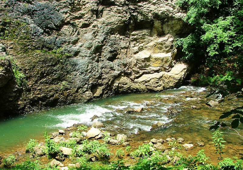 Picture of creek believed to have made the Natural Tunnel