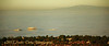3 buildings in Irvine (or Newport Beach?) floating on the fog like iceberg.