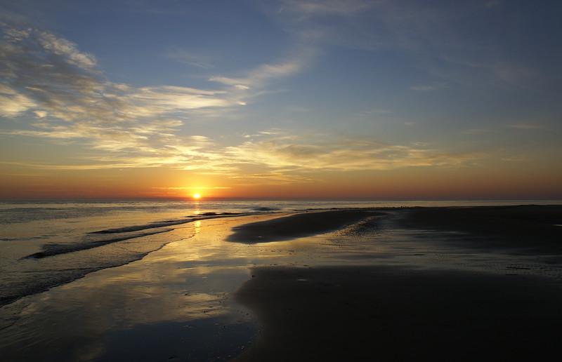 Sunrise at Isle of Palms on the coast of South Carolina