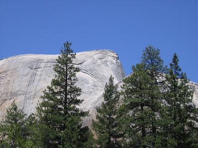 Another view of the cable stairway up Half Dome.