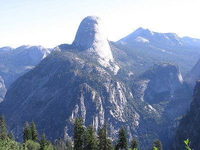 Half Dome, viewed from Southwest along the Panorama Cliff trail.