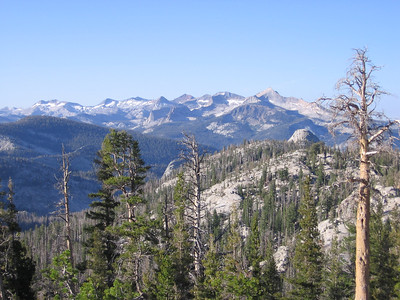 Looking towards southern peaks of Yosemite National Park backcountry.
