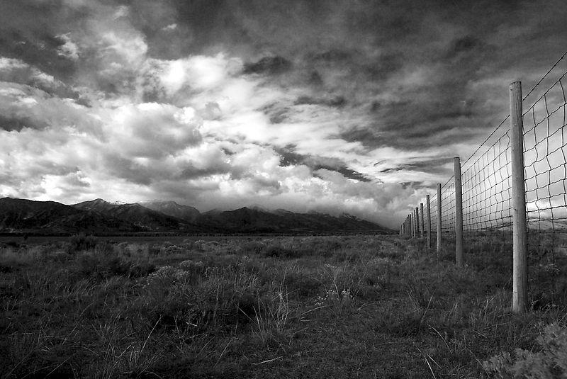 Fences <br>Grand Tetons, Wyoming <br>Copyright 2003 Adam Brown
