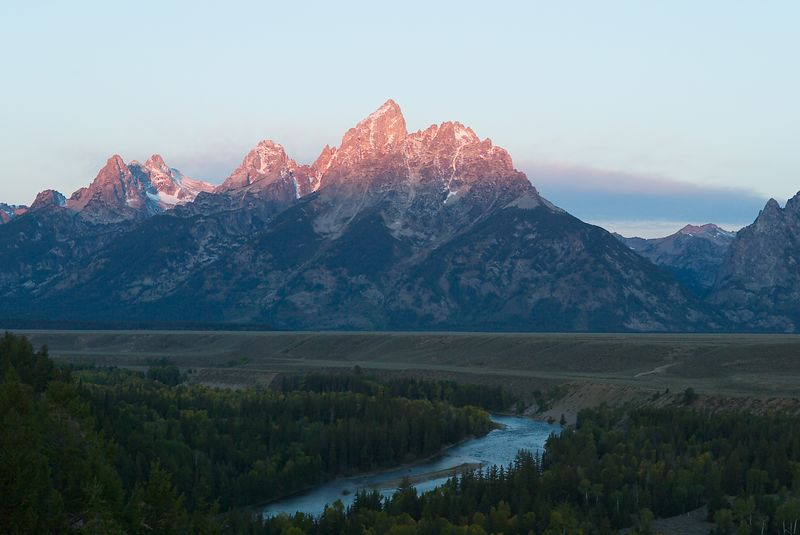 Sunrise at Grand Tetons, Wyoming <br>Copyright 2003 Adam Brown