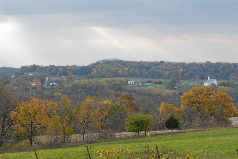 H2I085D View of Shapville in the Fall, Jo Daviess County