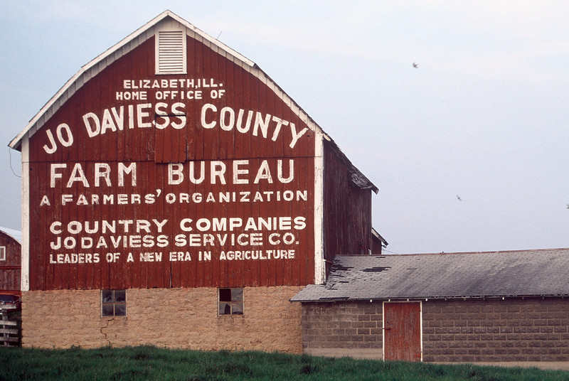Old Jo Daviess County Farm Bureau Barn near Elizabeth, IL